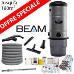 Pack Aspirateur central Beam 335 + 16m de tuyau + Kit flexible retractable retraflex de 12m