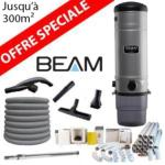 Pack Aspirateur central Beam 385 + 16 m de tuyau + Kit flexible retractable retraflex de 12m