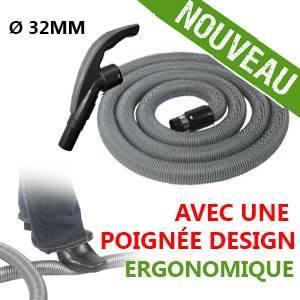 Flexible simple de 12m pour aspirateur central - Ergonomique