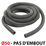 Flexible Ø50 anti ecrasement de 10m - PAS D'EMBOUT