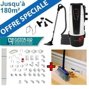 Centrale TECNO STYLE 150 - Sistem Air + Flexible on/off et 6 acc + Kit de base + Vacpan