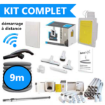Kit d'installation complet flexible de 9m retractable dans le mur : SANS FILS