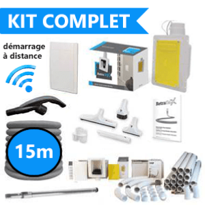 Kit d'installation complet flexible de 15m retractable dans le mur : SANS FILS