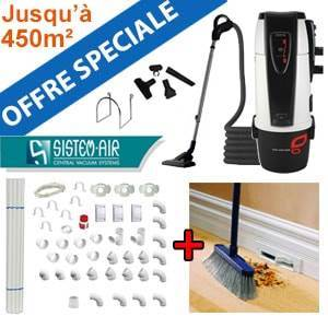 Centrale TECNO STYLE 450 - Sistem Air + Flexible on/off et 6 acc + Kit de base + Vacpan