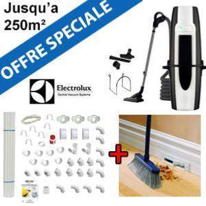 Aspirateur central ELUX920 + Flexible inter on/off de 9m + 6 ACC + KIT DE BASE + VACPAN