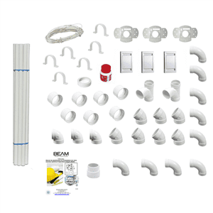 Aspirateur central VISUAL 350 + Flexible inter on/off de 9m + 6 ACC + KIT DE BASE + RAMASSE MIETTES