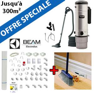 Aspirateur central BEAM 385 + Flexible inter on/off de 9m + 6 ACC + KIT DE BASE + VACPAN