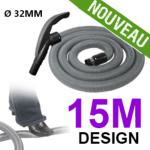 Flexible simple de 15m pour aspirateur central - Ergonomique