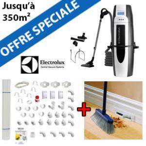 Aspirateur central ELUX930 + Flexible inter on/off de 9m + 6 ACC + KIT DE BASE + VACPAN