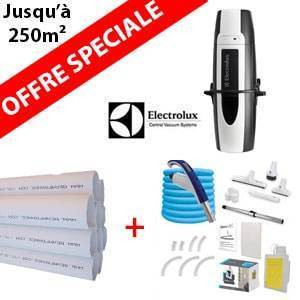 Pack Aspirateur central ZCV855 + 16 m de tuyau + Kit flexible retractable retraflex de 12m