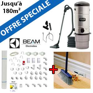 Aspirateur central Beam 335 + Flexible interrupteur on/off de 9m + 6 ACCESSOIRES + KIT DE BASE + VACPAN