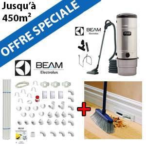 Aspirateur central BEAM 398 + Flexible inter on/off de 9m + 6 ACC + KIT DE BASE + VACPAN
