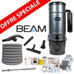 Pack Aspirateur central Beam 3500 + 16 m de tuyau + Kit flexible retractable de 12m