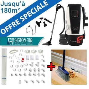 Centrale TECNO STYLE MINI 150 - Sistem Air + Flexible on/off et 6 acc + Kit de base + Vacpan