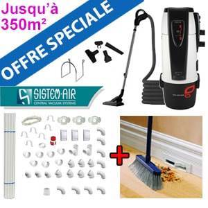 Centrale TECNO STYLE 350 - Sistem Air + Flexible on/off et 6 acc + Kit de base + Vacpan