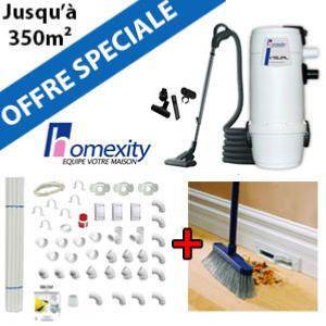 Aspirateur central VISUAL 400 + Flexible inter on/off de 9m + 6 ACC + KIT DE BASE + RAMASSE MIETTES
