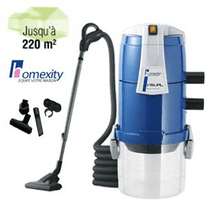 Aspirateur centralise VISUAL250 avec flexible inter de 9m