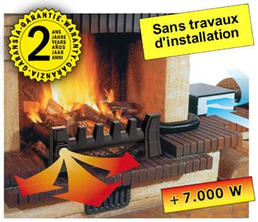 Récupérateur de chaleur pour cheminée à foyer ouvert