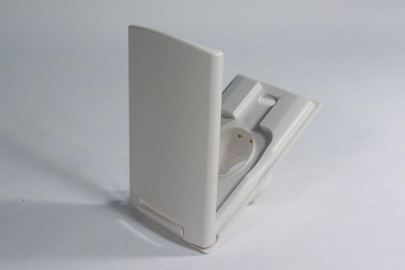 prise rectangulaire blanche grande porte vex aspiration centralis e. Black Bedroom Furniture Sets. Home Design Ideas
