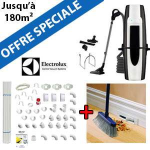 Aspirateur central ZCV 855 + Flexible inter on/off de 9m + 6 ACC + KIT DE BASE + RAMASSE MIETTES