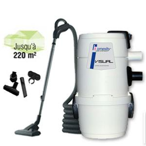 Aspirateur centralise VISUAL150 avec flexible interrupteur de 9m
