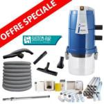 Pack Aspirateur central VISUAL 250 +  16 m de tuyau + Kit flexible retractable retraflex de 12m