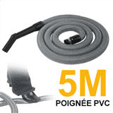 Flexible simple de 5m pour aspirateur central