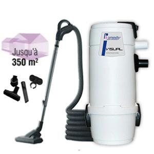 Aspirateur centralise VISUAL400 avec flexible interrupteur de 9m