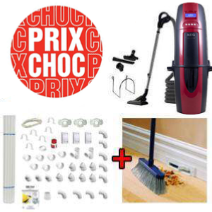 Aspirateur central AEG870 + Flexible inter on/off de 9m + 6 ACC + KIT DE BASE + VACPAN