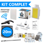 Kit d'installation complet flexible de 20m retractable dans le mur : SANS FILS
