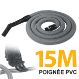 Flexible simple de 15m pour aspirateur central