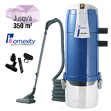 Pack Aspirateur Central VISUAL350 Homexity avec flexible simple de 9m