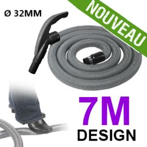 Flexible simple de 7m pour aspirateur central - Ergonomique