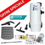 Pack Aspirateur central VISUAL400 +  16 m de tuyau + Kit flexible retractable de 12m ( complet )